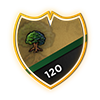 This player has 120 in the skill: Woodcutting!